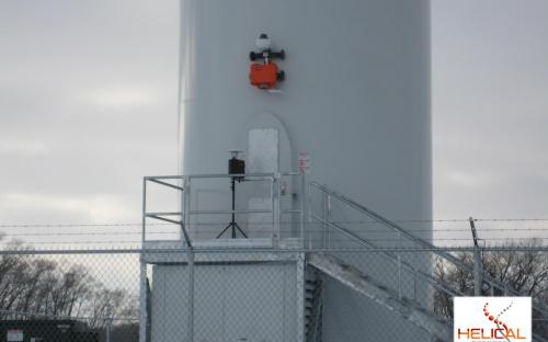 HR-MP20 Omni-Directional Maneuver Over Hatch at Liberty 2.5MW Wind Turbine Base.